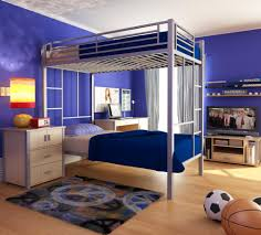 Loft Bed Bedroom Bedroom Colorfull Fabric Area Rug Grey Modern Wooden Bunk Bed