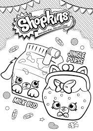 Kids N Fun Kleurplaat Shopkins Milk Bud Jungle Purse
