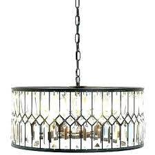 black drum shade chandelier with crystals drum shade crystal chandelier drum shade crystal chandelier get ations