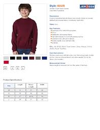 Jerzees 4662b Youth Super Sweats Youth Crewneck Sweatshirts