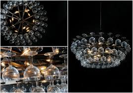ceiling lights princess wine glass chandelier made of bottles bee wine glasses port wine glasses