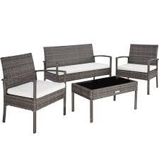 tectake rattan garden furniture set