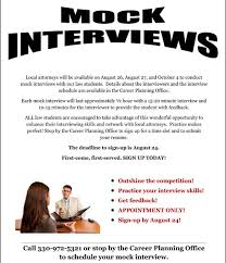 Mock Interviews With Local Attorneys Will Be Held On August 27Th ...