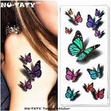 Acquista Nu Taty Incredibile Farfalla 3d Tatuaggio Temporaneo Body