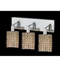 Chrome Bathroom Lighting Fixtures Custom Elegant Lighting 48WORGTRC Mini 48 Light 48 Inch Chrome Vanity