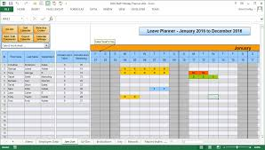 Holiday Planner Template 002 Free Excel Annual Leave Calendar Template Ideas Sickness