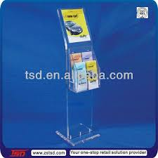 Acrylic Flyer Display Stand Tsda100 Custom Hot Sale Transparent Acrylic Floor Brochure Holder 22
