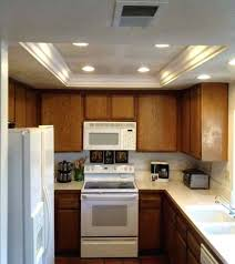 kitchen rope lighting. Tray Lighting Ceiling Small Kitchen Illuminated With Recessed Rope