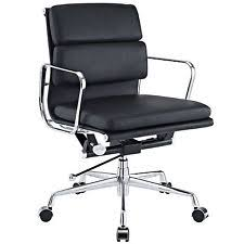 eames inspired office chair. Eames Softpad Management Chair Style Office Reproduction Mid Back Black Inspired T