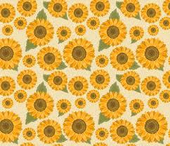 Sunflower Pattern Extraordinary Sunflower Pattern Fabric Diane48 Spoonflower