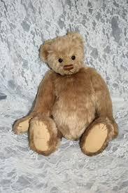 artist teddy bear rosalie frischmann teddy bear w leather collar oldeclectics ruby lane
