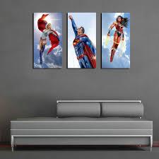 superman wonder woman wall art