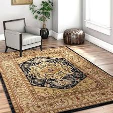black southwestern medallion area rug 5 x 7 mohawk home caravan thick soft shed free easy rugs beige medallion oriental