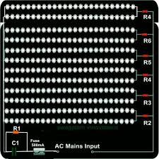 how to make your own highly efficient led light fixture 120 v led light fixture circuit diagram