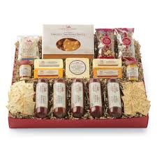 all day celebration gift box gift purchase our gourmet sausage cheese gift from hickory farms