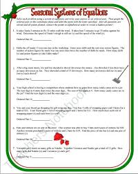 systems of equations word problems worksheet answers or seasonal systems of equations word problems amazing systems