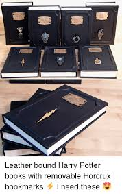 books harry potter and book leather bound harry potter books with removable horcrux