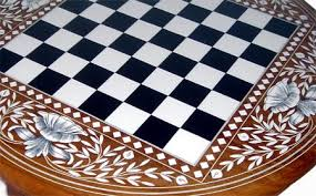 folding chess table black chess table