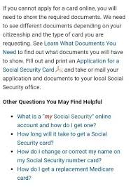 Can i get my social security card online. Do I Need To Get A Ssn Card If I Know My Social Security Number Quora