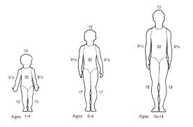 Rule Of 9 S Burn Chart Child Determining Total Body Surface Area Minnesota Dept Of Health