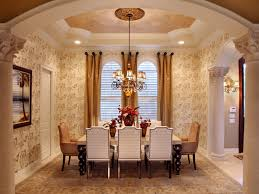 fancy dining room curtains. Elegant Bronze Hues From The Ceiling, Wallpaper And Draperies Emit A Calming, Yet Formal. Dining Room Fancy Curtains R