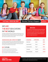Training Flyer Education Training Flyer Design Template In Word Psd Publisher