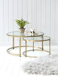 round glass coffee table brass duo with tabletops bent canada