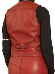 las red leather waistcoat las red leather waistcoat