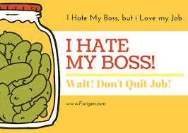 I Hate My Boss Situation - Don't Quit Your Job! - Forigen
