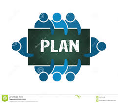 Plan Logo Design Group Of People Planning Logo Stock Vector Illustration Of
