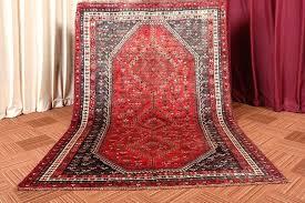 wool vintage red and black handmade area rug 5x7 rugs