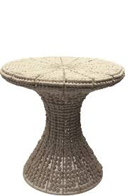 wooden bead side table