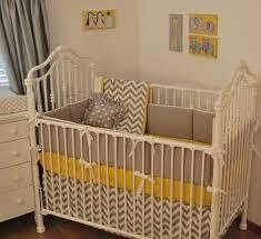 yellow crib bedding sets great stylish grey chevron set intended for property