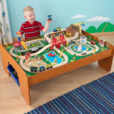 kidkraft ride around town 100pc train set table round designs