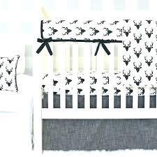 deer crib bedding sets hunters black gray cream baby boy set nursery per elephant cribs paisley