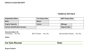 Vehicle Sale Receipt Template Car Sales Invoice Template Uk Invoice Example