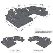 Sofa Dreams Leder Wohnlandschaft Venedig U Form Weiss