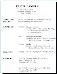 Resume Samples For High School Students Enchanting High School Resume Examples For Jobs Resume Sample Collection