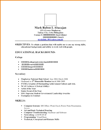Sample Resume For Ojt In Information Technology Save Resume Format