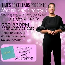 book signing flyer queens and cocktails a book signing with la detra white la detra