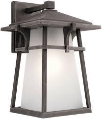 Kichler WZC Beckett Weathered Zinc Exterior Lighting Sconce - Kichler exterior lighting