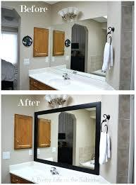 diy bathroom mirror frame. Diy Mirror Frame Your A Pretty Bathroom With Shelf .