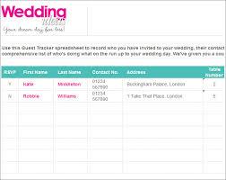 free guest list template Wedding Invitations Guest List Templates Wedding Invitations Guest List Templates #47 wedding invitation list templates