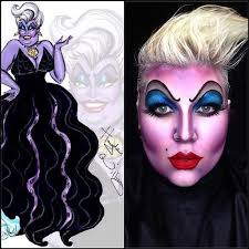this ursula makeup really stood out to me because of its colors but still has highlight