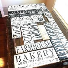 decorative wooden kitchen signs for photo from today wood rustic country decora