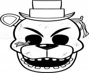 Five Nights At Freddys Fnaf Coloring Pages Free Printable