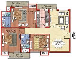 indian 3 bedroom floor plan