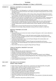 Regional Property Manager Resume Samples Velvet Jobs