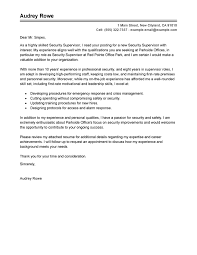 Awesome Collection Of Best Security Supervisor Cover Letter Examples