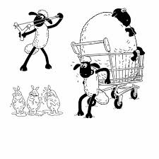 Small Picture Shaun the Sheep Pulling Cart Coloring Page Shaun the Sheep